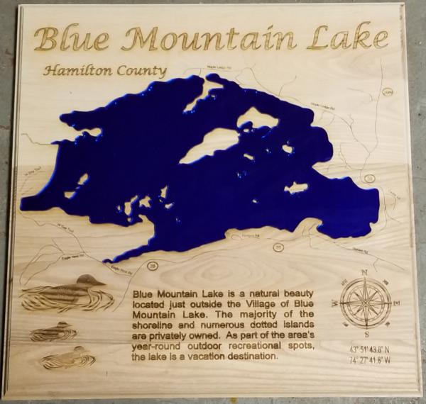 Blue Mountain Lake - Lake Sign