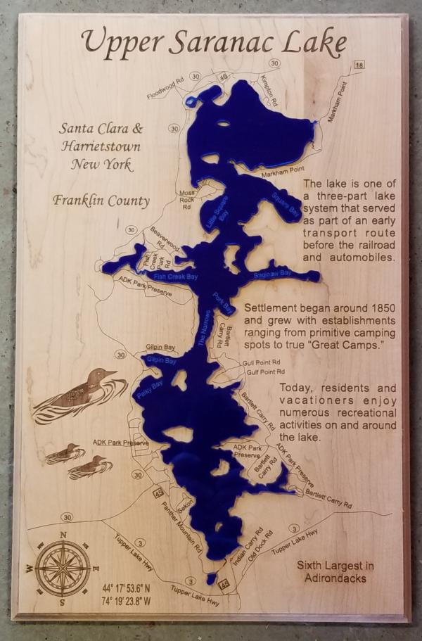 Upper Saranac Lake - Lake Sign